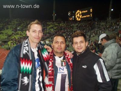 Dudze, Brandl, Enzo beim Juve-Spiel