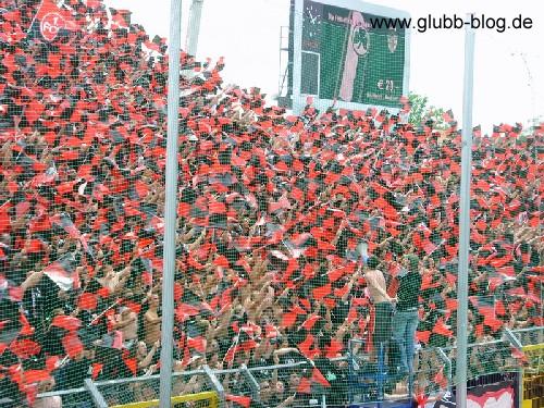 Choreo der Ultras Nürnberg gegen Greuther Fürth
