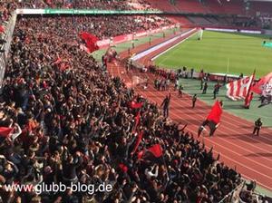 Sieges-Laola des FCN nach Sieg über Duisburg