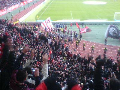 Derbysieger Nürnberg Laola nach 2:1-Sieg gegen Fürth